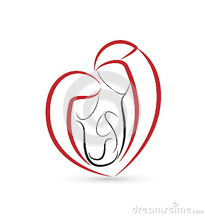 Sacred Family In A Heart Shape Stock Vector Image 44242059
