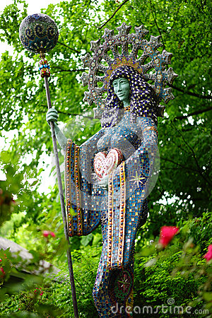 Free Sacred Goddess With Scepter - Vertical Royalty Free Stock Photo - 54079295