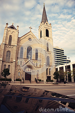 Sacred Heart Church in the center of Peoria
