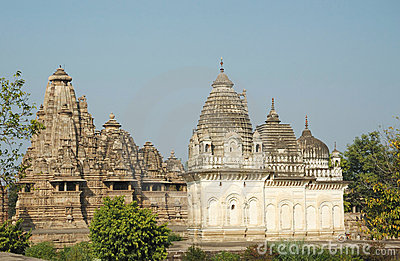 Sacred hindu temples at Khajuraho,India