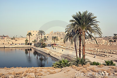Sacred lake in Karnak