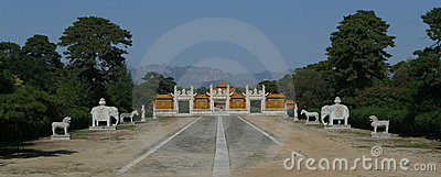 Sacred path and glazed gate at the Qing West Tombs