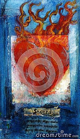 Sacred Sanskrit Heart