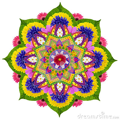 Sacred Sky Lotus Mandala Stock Illustration