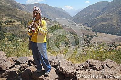 The Sacred valley of Incas, Peru Editorial Stock Photo