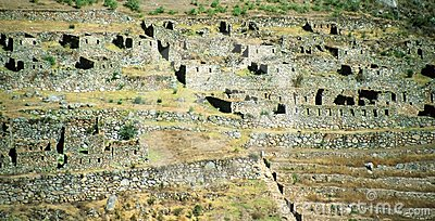 Sacred Valley of the Incas or Urubamba Valley ruin