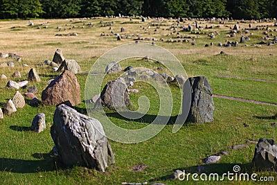 Sacred viking burial ground