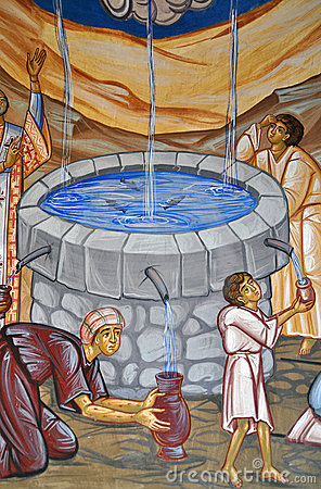 Sacred water painting