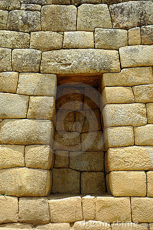 Sacrifice niche at Machu Picchu, Peru