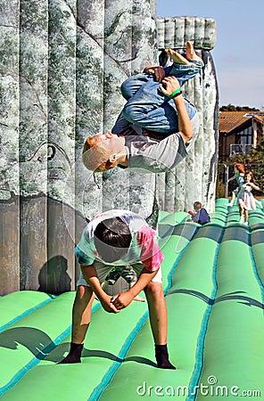 Sacrilege inflatable stonehenge Editorial Stock Photo