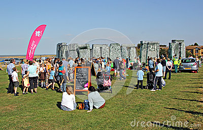 Sacrilege inflatable stonehenge Editorial Stock Image