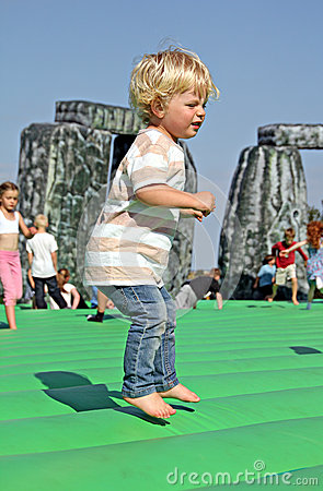 Sacrilege inflatable stonehenge Editorial Photography