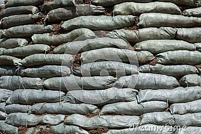 Sacs de sable pour la protection d 39 inondation images stock image 29186504 - Sac de sable inondation ...