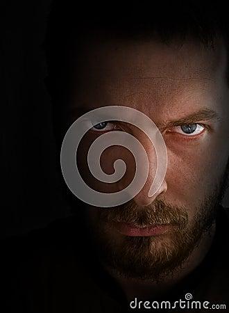 Sad and angry looking man