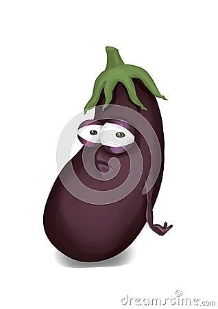 Sad aubergine