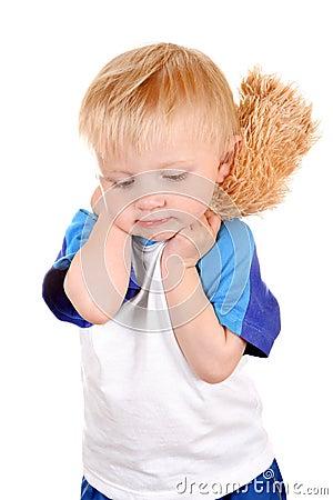 Sad Baby Boy Stock Photo - Image: 44063860