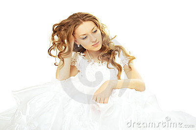 Sad beauty bride