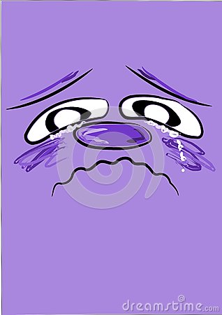 Sad blue face -
