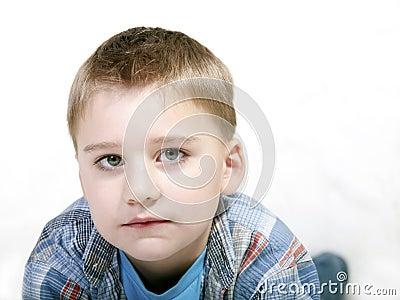 Sad boy closeup