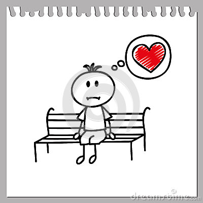 Sad Love Wallpaper In cartoon : Sad Boy Stock Vector - Image: 44626709