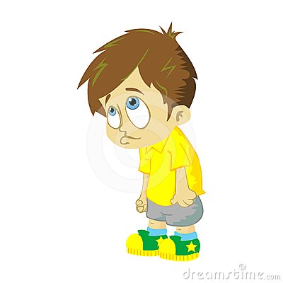 Sad Boy On White Background Royalty Free Stock Photography - Image ...