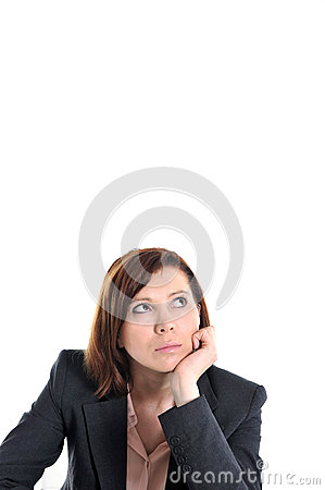 Free Sad Business Red Haired Woman In Stress At Work With Copy Space Stock Photo - 37829560