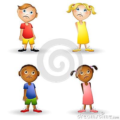 sad cartoon children stock photography image 5576662