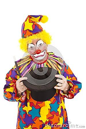 Sad Clown Empty Hat