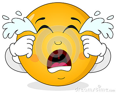 Sad Crying Smiley Emoticon Character Stock Vector - Image ...