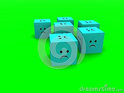 Sad Cubes  6