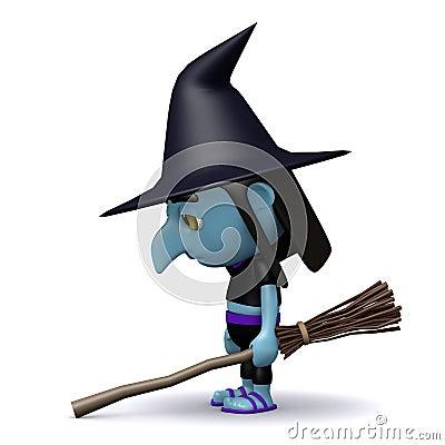 Sad 3d Witch