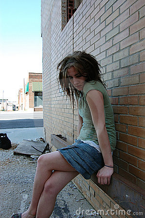 Sad and depressed girl