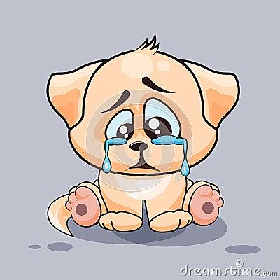 Sad Dog Crying Stock Vector - Image: 69248806