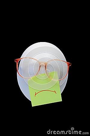 Sad egg-head