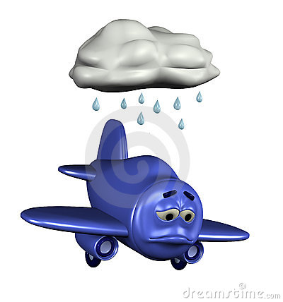 Sad Emoticon Plane