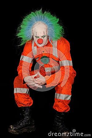 Free Sad Evil Clown Royalty Free Stock Photo - 17912425