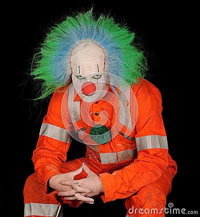 Free Sad Evil Clown Royalty Free Stock Photography - 17912447