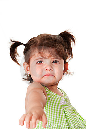 Free Sad Face Of Little Girl Stock Photography - 20350692