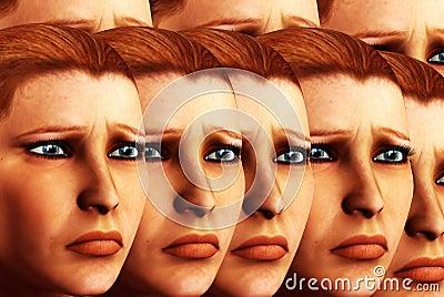 Sad Faces Background 4