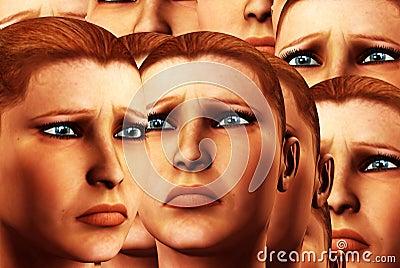 Sad Faces Background 5