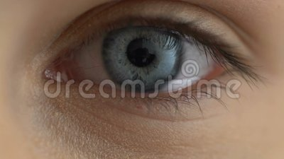 Sad female eye close-up, depressive emotions, eyesight disease, health care. Stock footage stock video