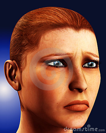 Sad Female Face 1