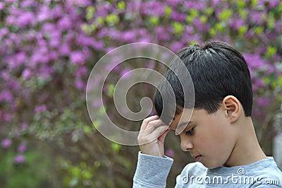 Sad Garden Boy