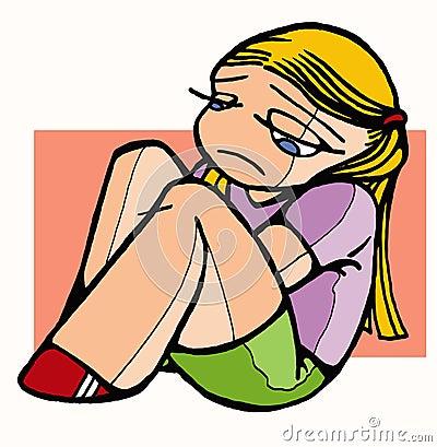 Sad Girl Cartoon Clipart - Free Clip Art Images