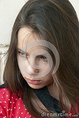 Free Sad Girl Royalty Free Stock Image - 12542976
