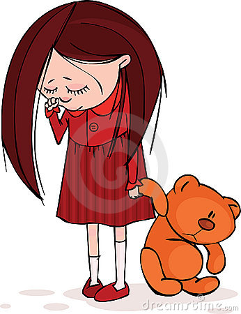 The gallery for --> Cartoon Little Girl Sad