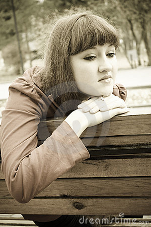 Free Sad Girl In Sepia Tones Royalty Free Stock Photo - 11573845
