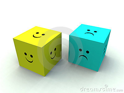 Sad And Happy Cube