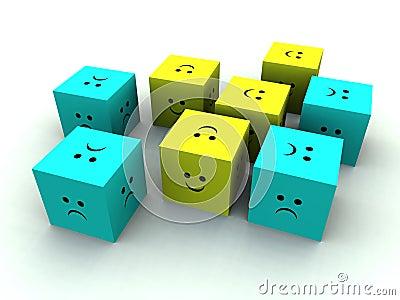 Sad And Happy Cube 4