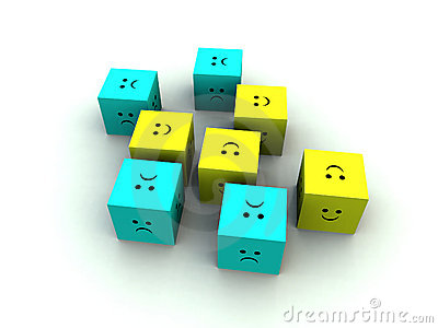 Sad And Happy Cube 7